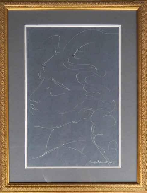 Portrait Profile, Sli... by  Madge Tennent (1889-1972) - Masterpiece Online