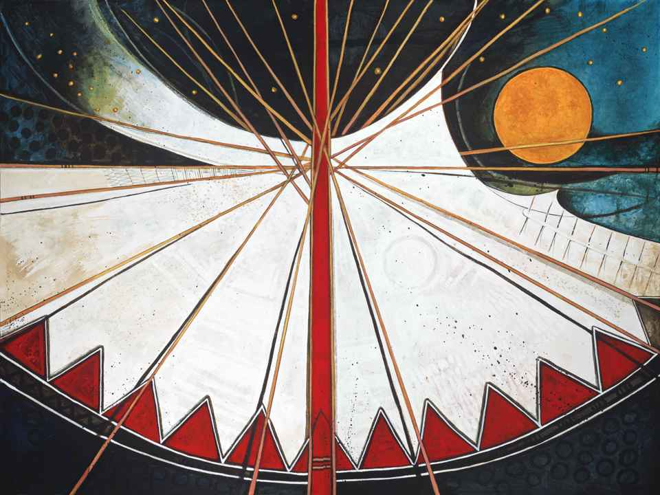 Abstract Moon Tipi by  Kevin Red Star - Masterpiece Online