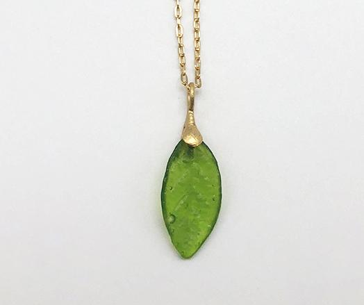 Small Leaf Pendant 16