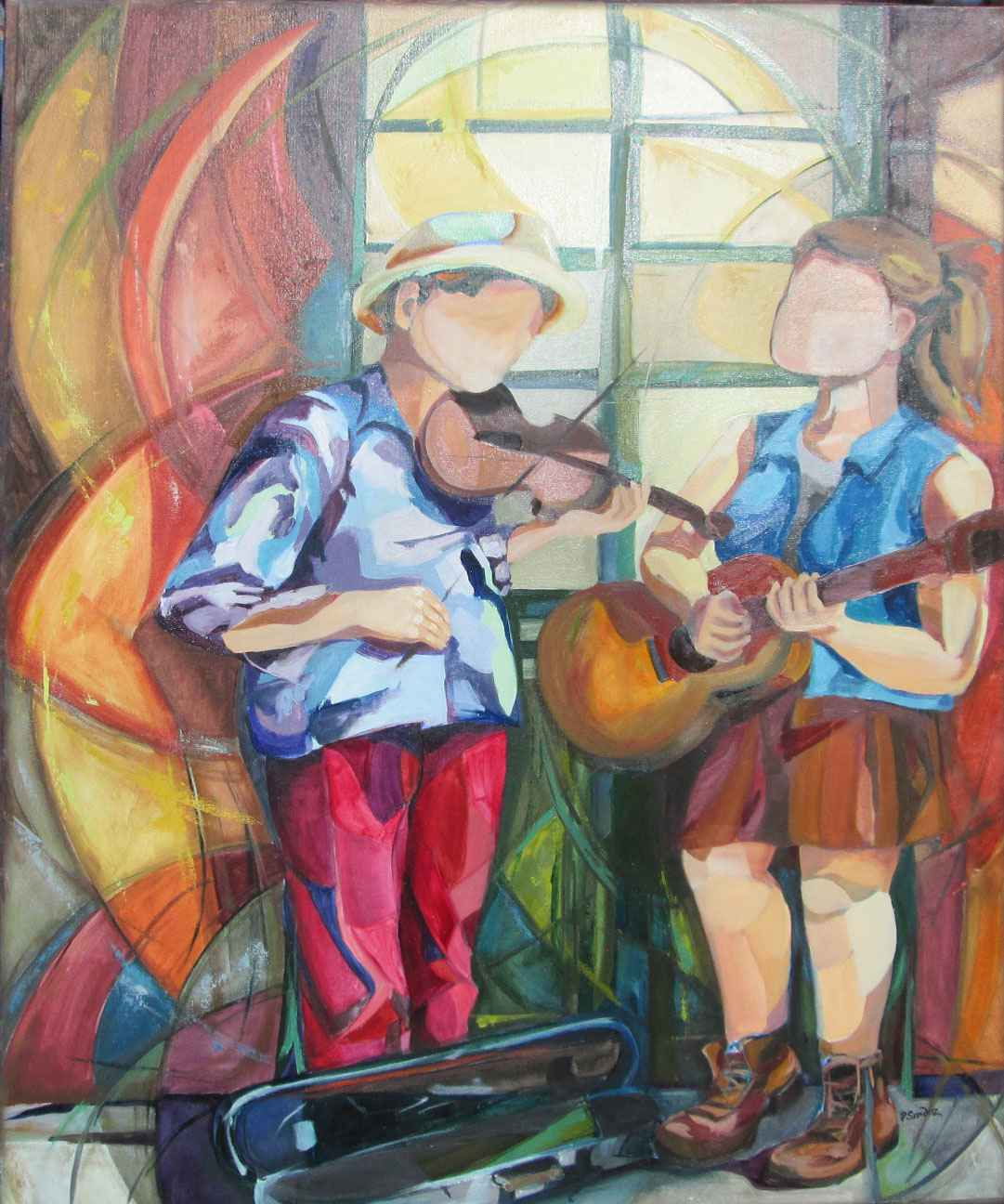 Street Serenade by  Priscilla Sandoz - Masterpiece Online