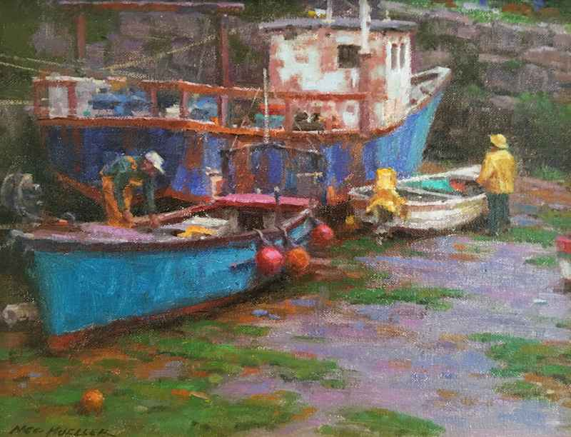 Balbriggan Harbor- Ir...  by  Ned Mueller