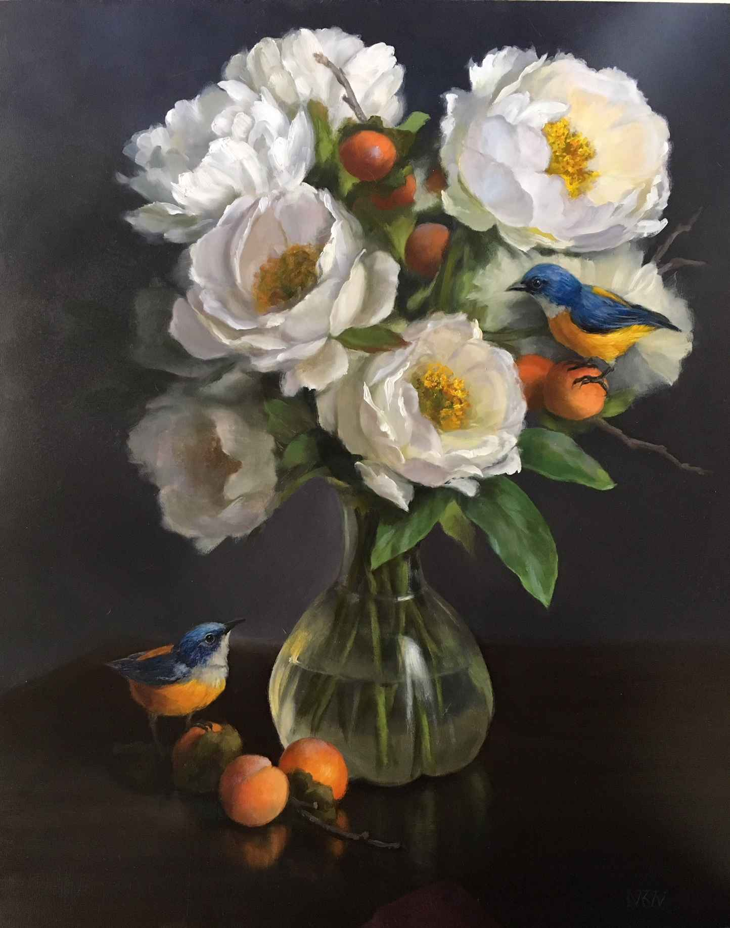 Floral with Birds and... by  Mary Kay  West  - Masterpiece Online