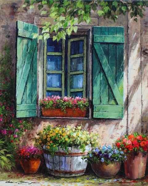 Flowers & Green Shutt...  by  Soon Ju Choi