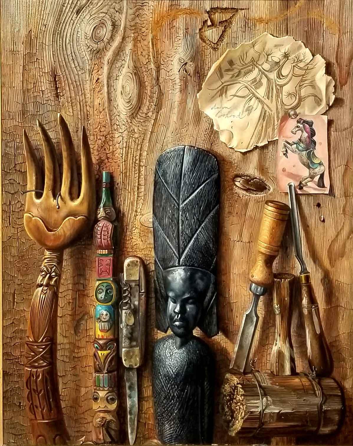 Wood by Mr. Aaron Bohrod - Masterpiece Online