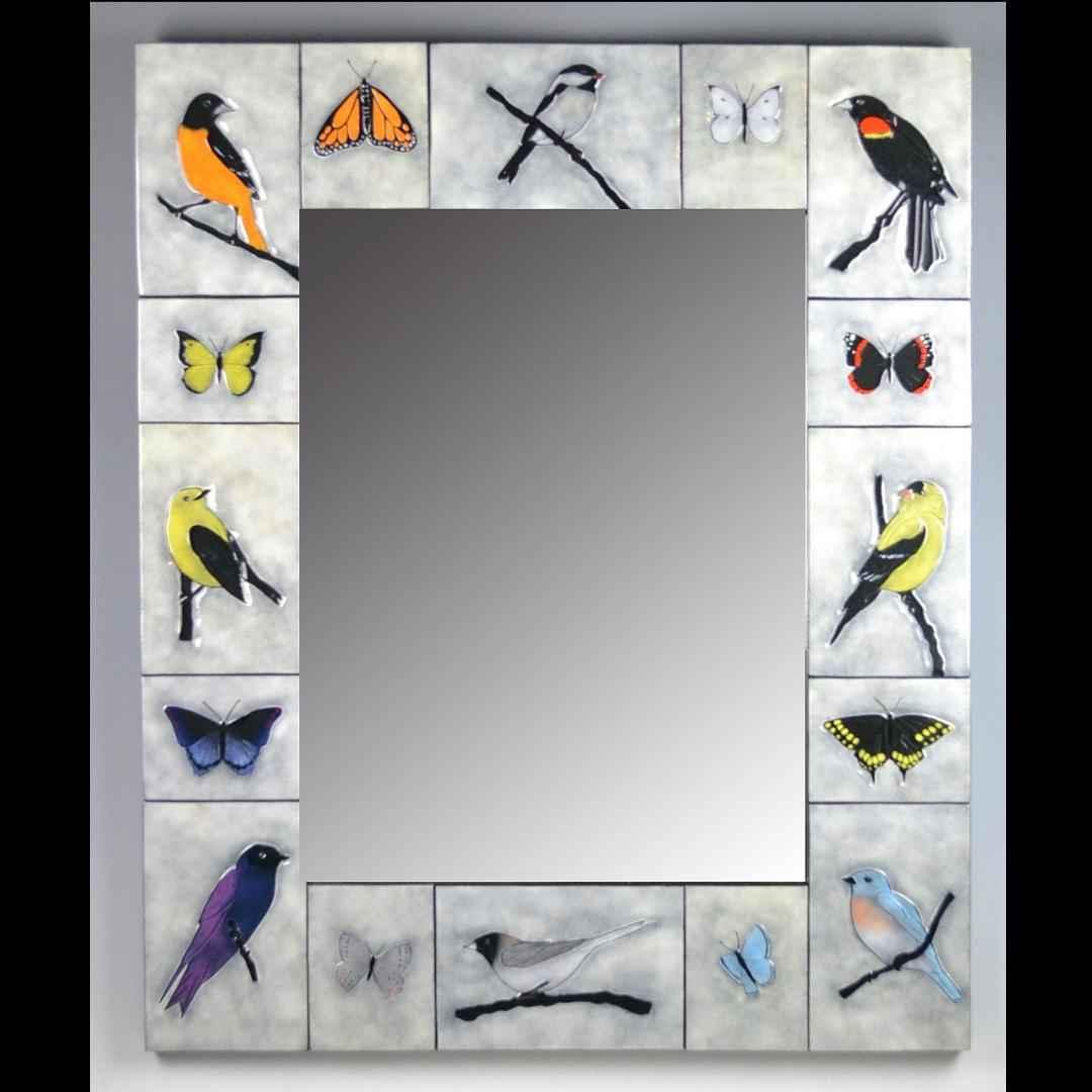 Birds & Butterflies Mirror