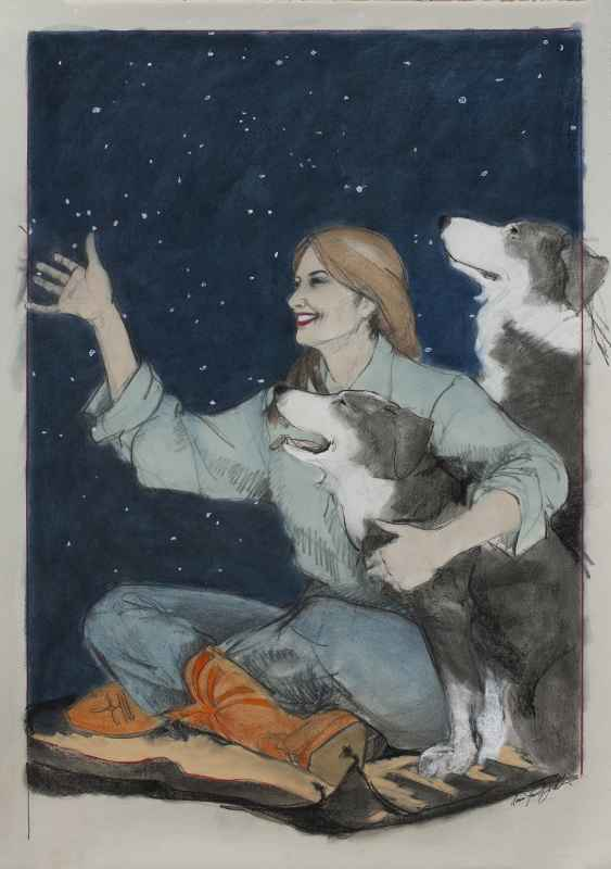 Watching The Big Bear  by  Donna Howell-Sickles