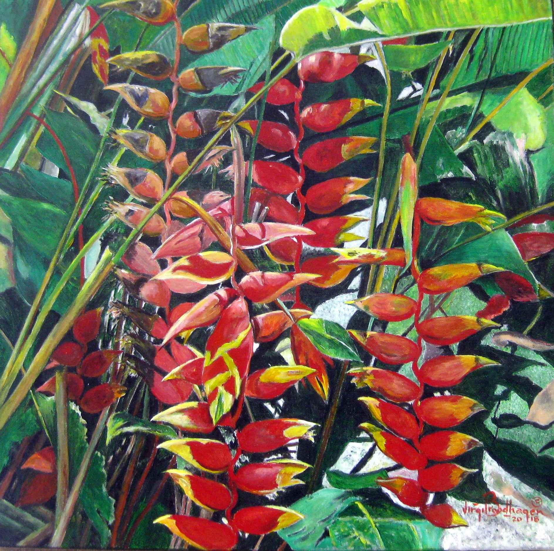 Heliconias by Mr. Virgil Broodhagen - Masterpiece Online