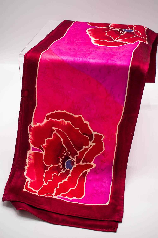 Hand Painted Silk Sca...  by  Linda Gebert 160