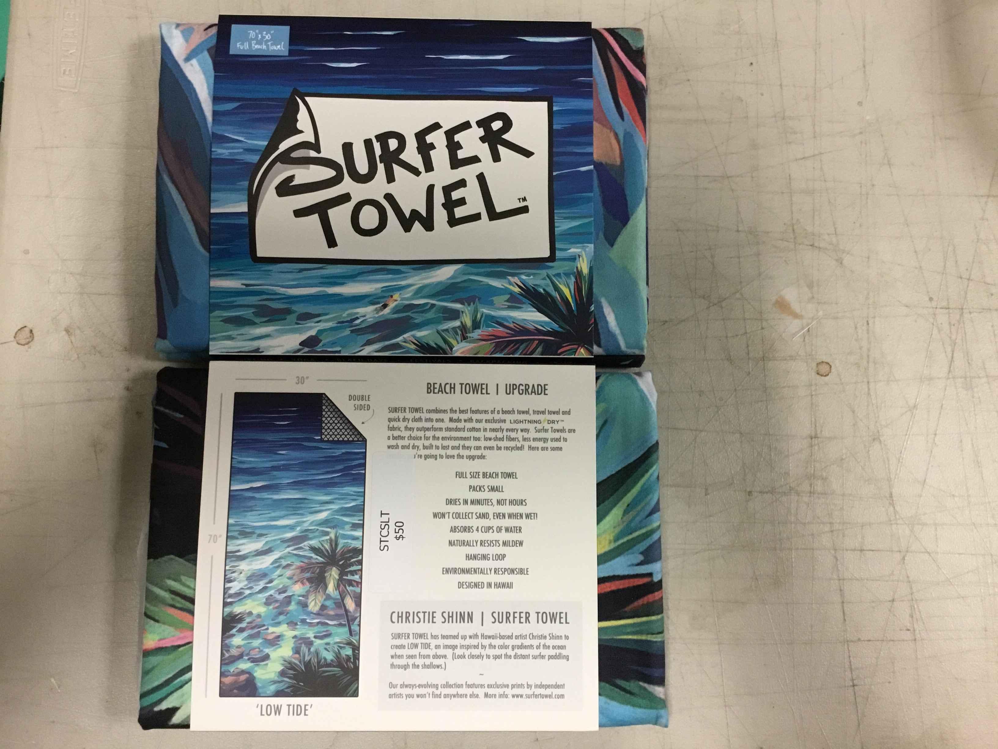 STCSLT Surfer Towel -... by  Christi Shinn - Masterpiece Online