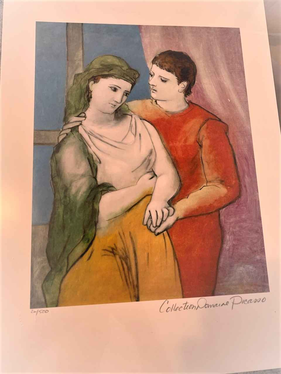 The Lovers (Clothed) by  Pablo Picasso - Masterpiece Online