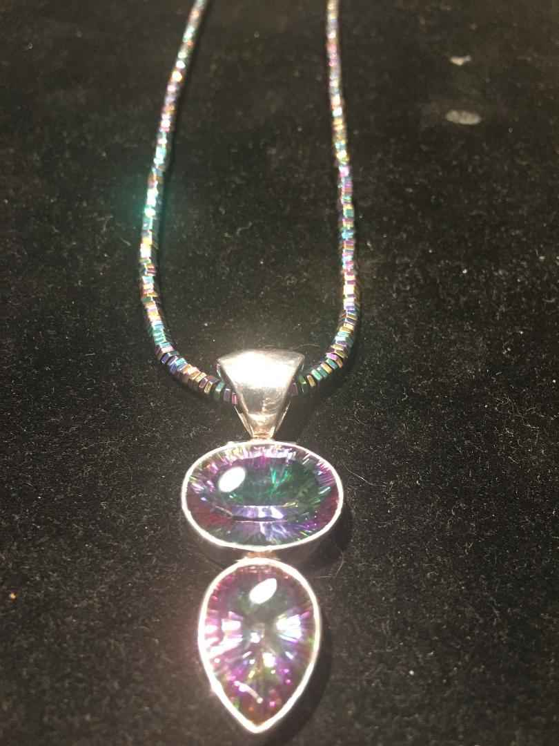 Mystic Topaz Necklace by  Debbie Clemens - Masterpiece Online