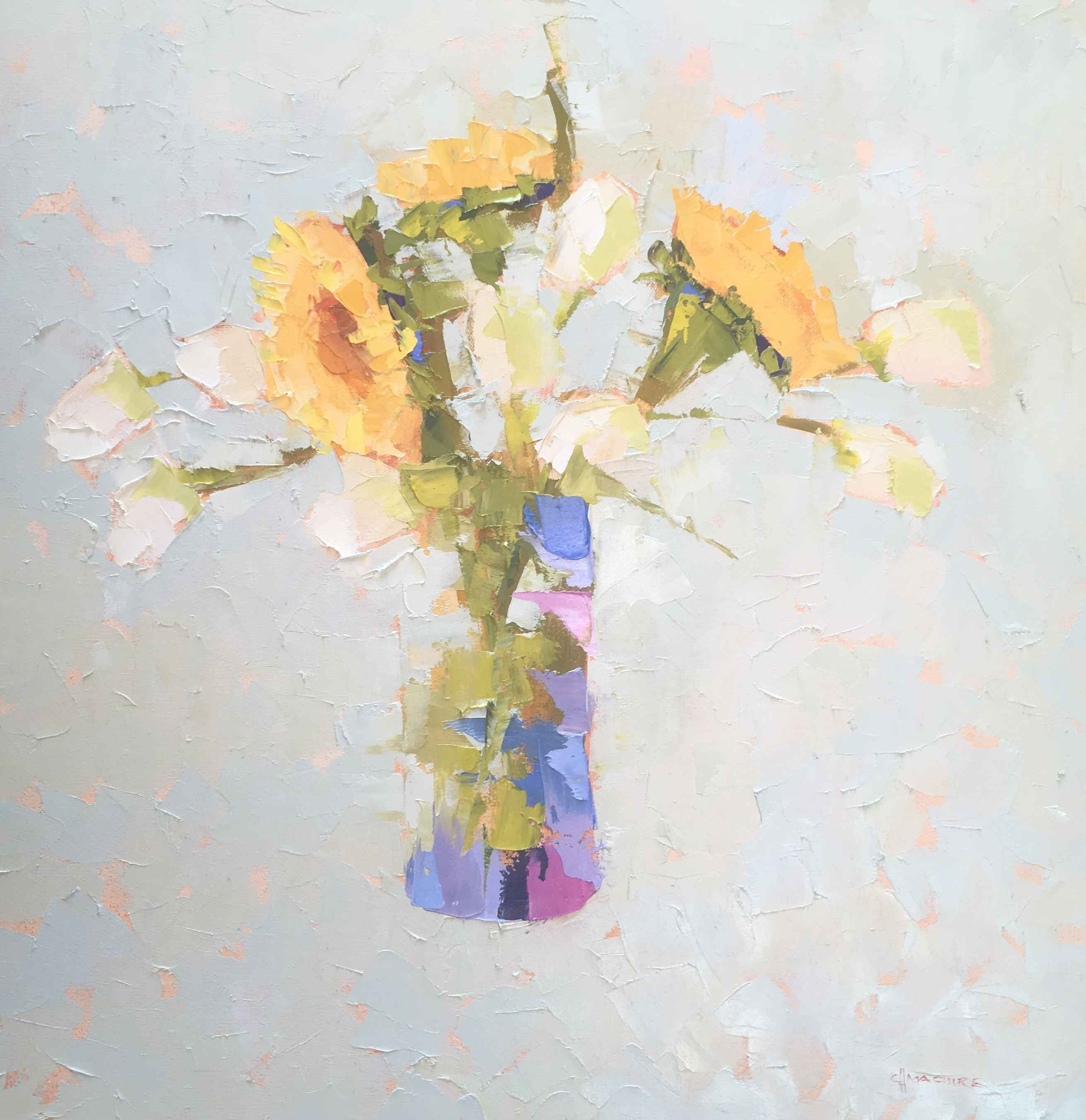 Sunflowers and Tulips... by  Carol Maguire - Masterpiece Online