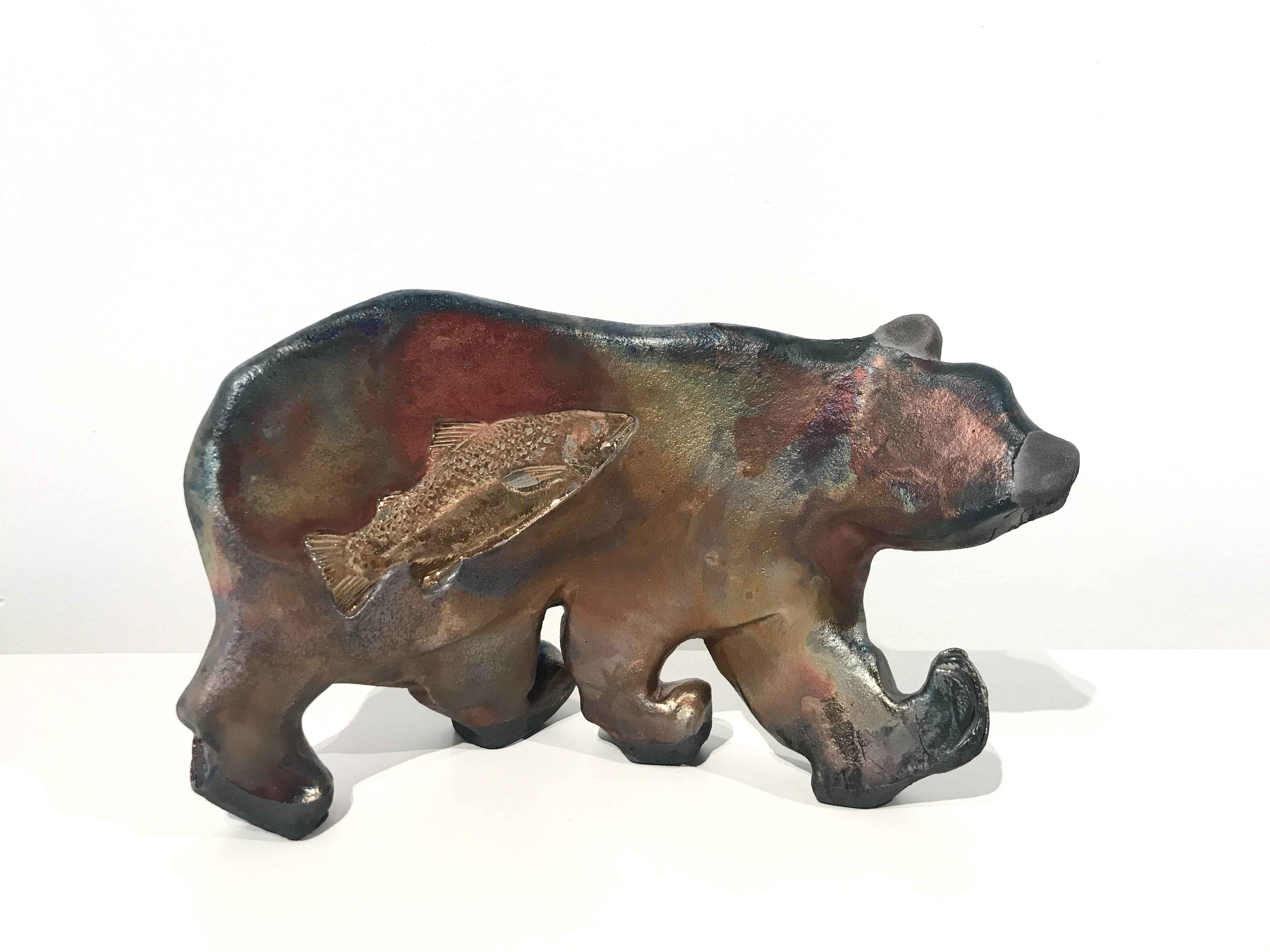 Gold Embossed Bear by  Leslie Bolin - Masterpiece Online