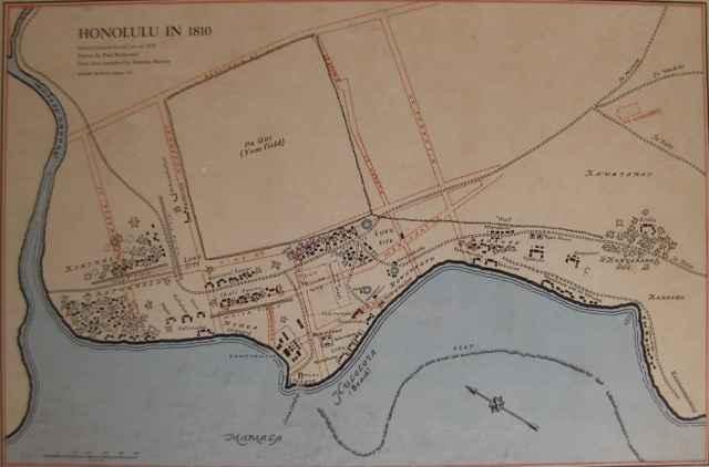 Map of Honolulu 1810 by   Unknown - Masterpiece Online