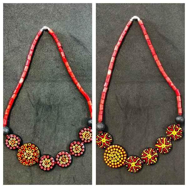 Red Coral Aboriginal ... by Mrs Larissa Hale - Masterpiece Online