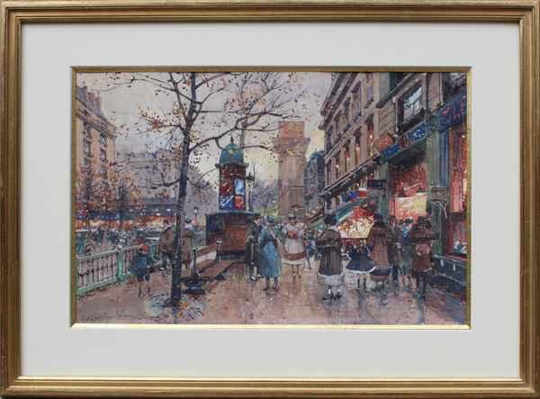 Porte St. Martin by  E. Galien Laloue  - Masterpiece Online