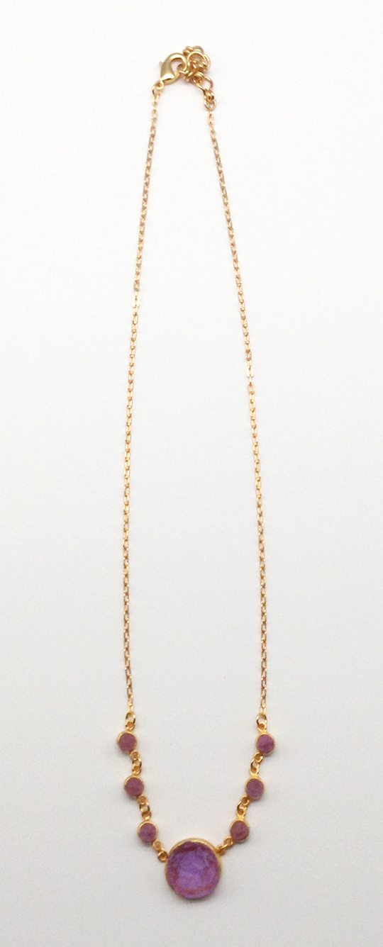 Crystal Medium Rounds Necklace 17
