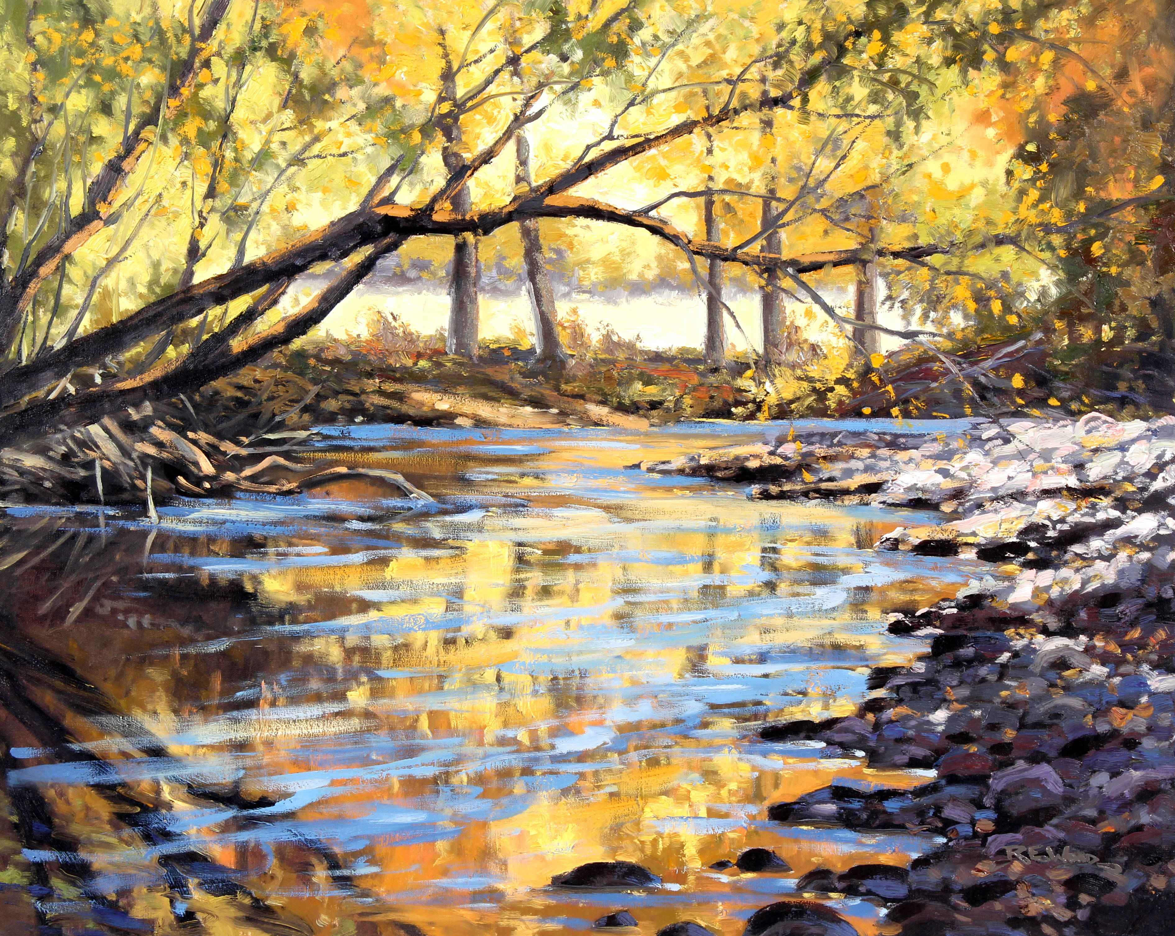 Reflecting Gold  by  Robert E. Wood