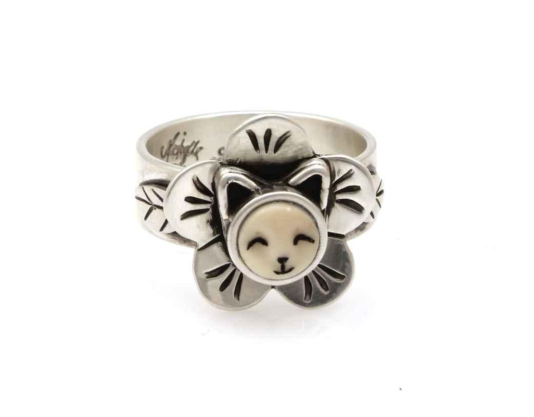 Ktten Flower Ring by  Michelle Tapia - Masterpiece Online
