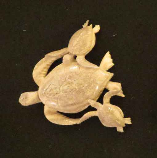 Carved Honu with Babi... by Mr. Mac Dunford - Masterpiece Online
