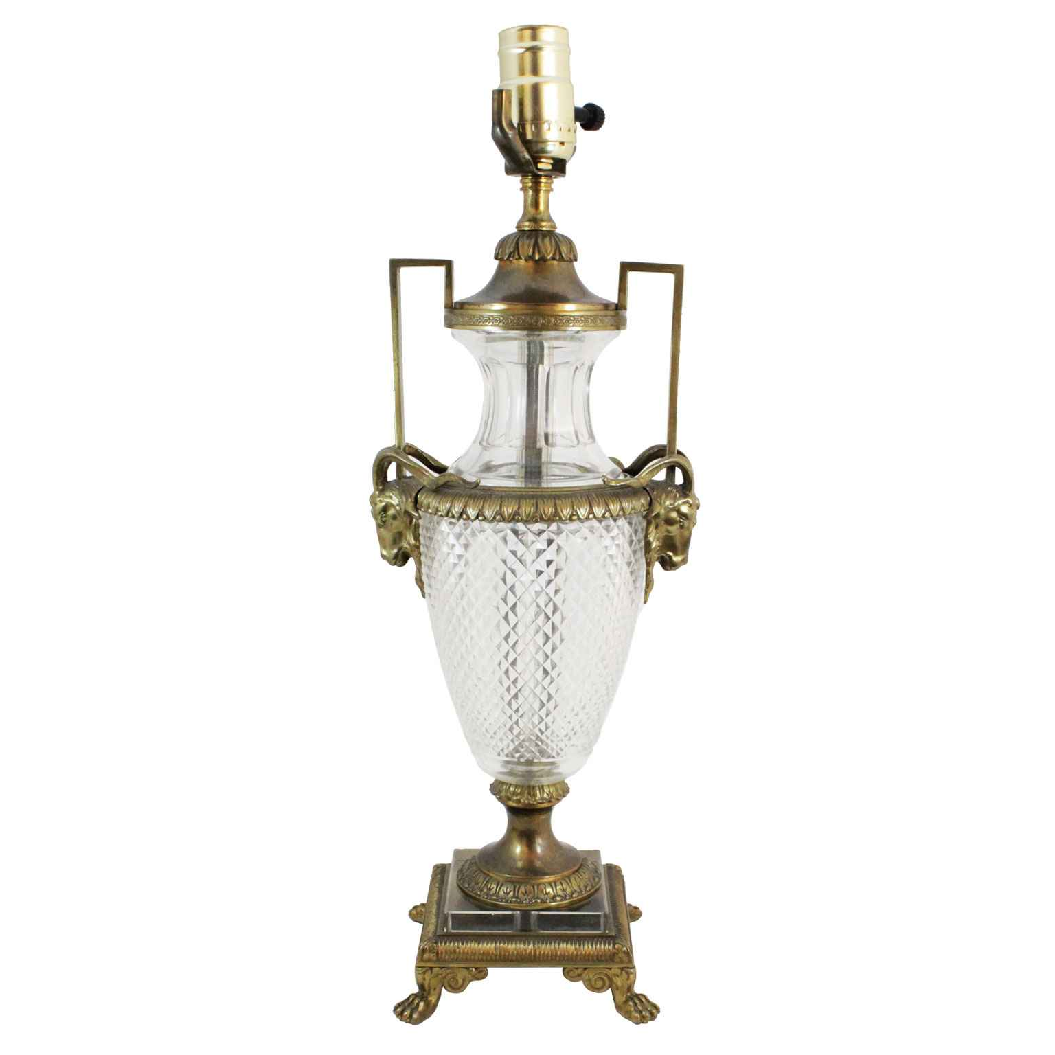 Urn Form Crystal Lamp... by  French  - Masterpiece Online