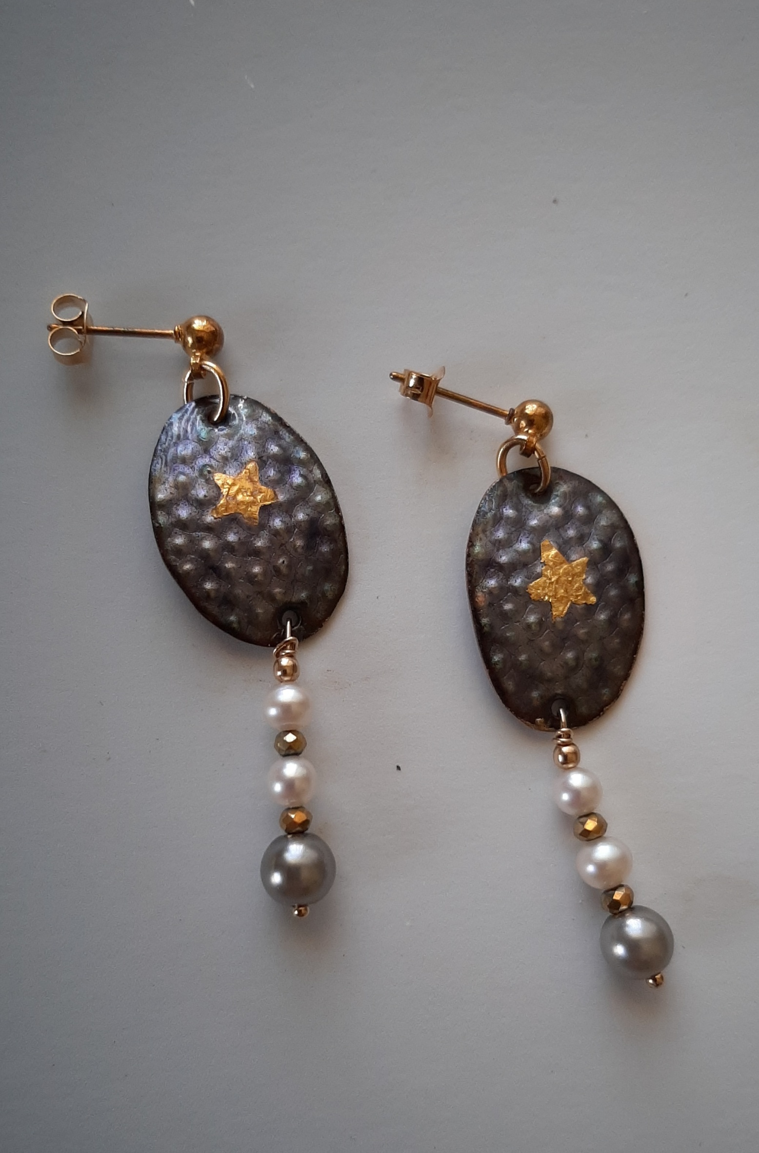 Ovals with Pearl Drops