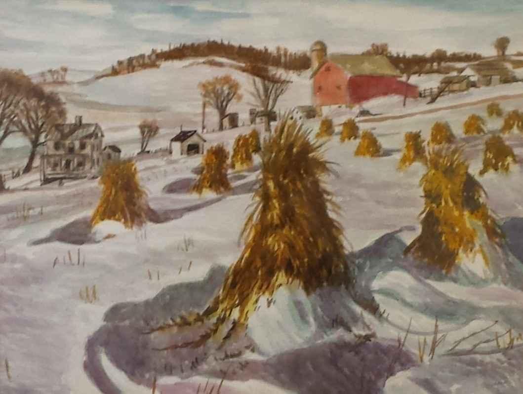 Corn Shucks in Snow by  Robert Lehman - Masterpiece Online