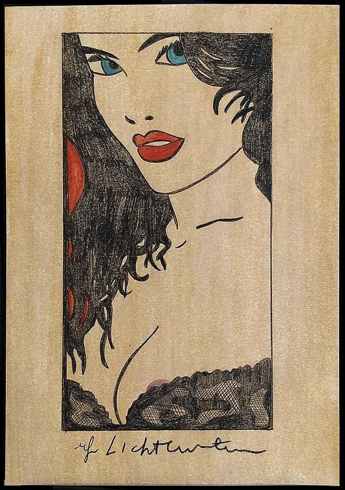 Woman in Black Lace W... by  Roy Lichtenstein - Masterpiece Online
