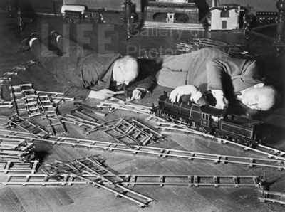 Toy Train Society 1931 by  Alfred Eisenstaedt - Masterpiece Online