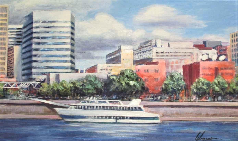 Untitled ( Yacht on t... by  Robert Gleason - Masterpiece Online