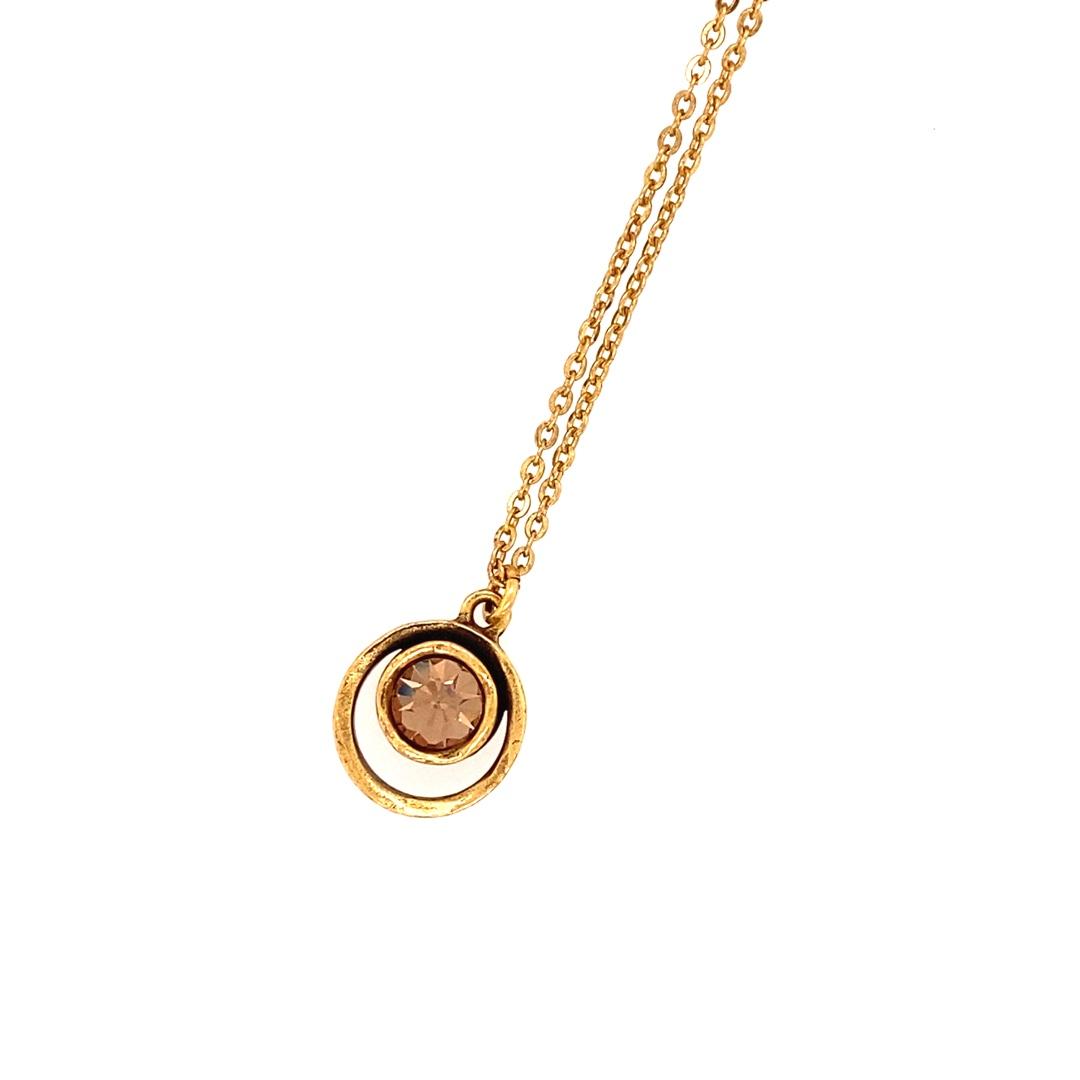 Skeeball Necklace in Gold, Light Colorado