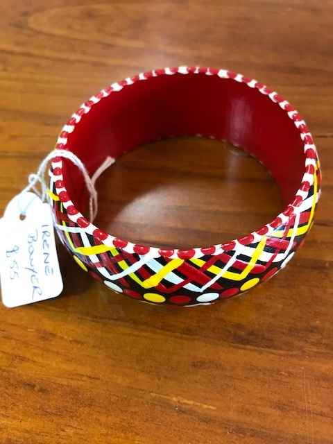 Painted Timber Bangle by Ms Irene Bowyer - Masterpiece Online
