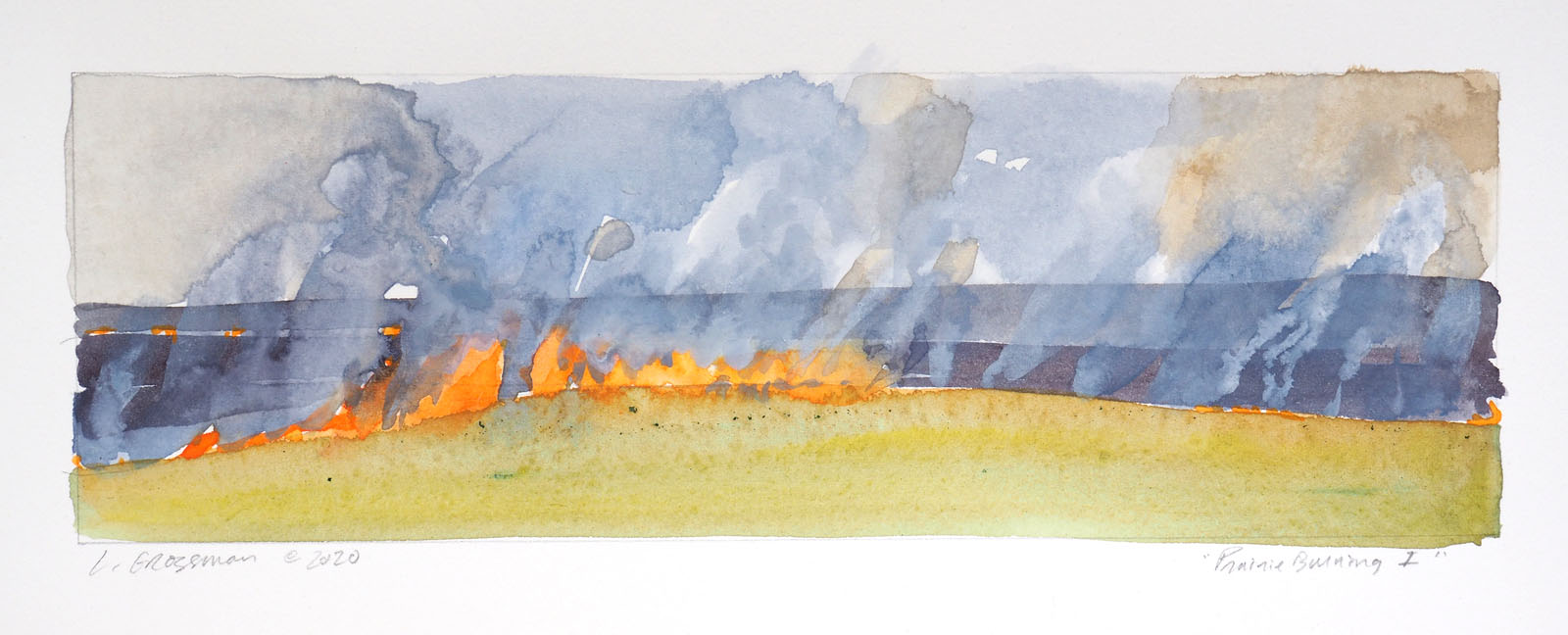 Prairie Burning I by  Lisa Grossman - Masterpiece Online