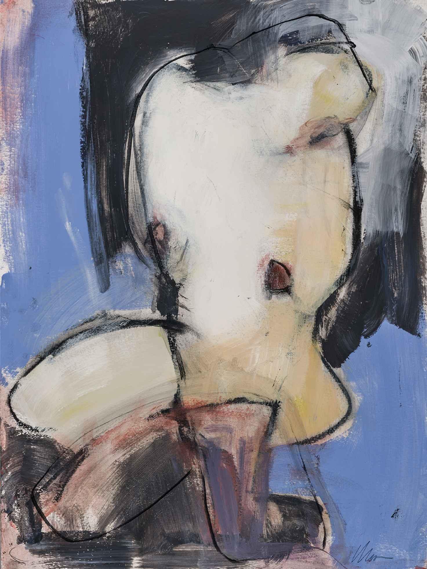 Blue Nude  by  Lisa Noonis