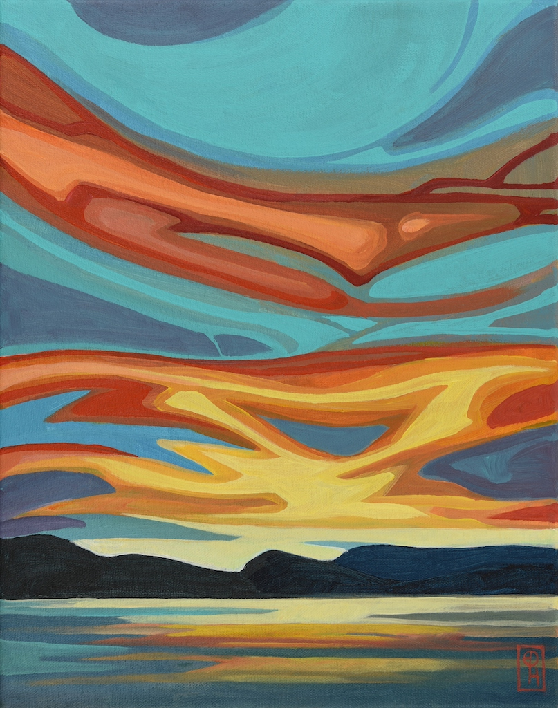 Emblazoned Sunset by  Erica Hawkes - Masterpiece Online