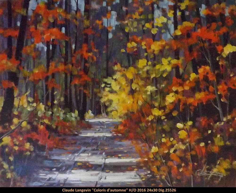 Coloris d'automne 102... by  Claude Langevin - Masterpiece Online