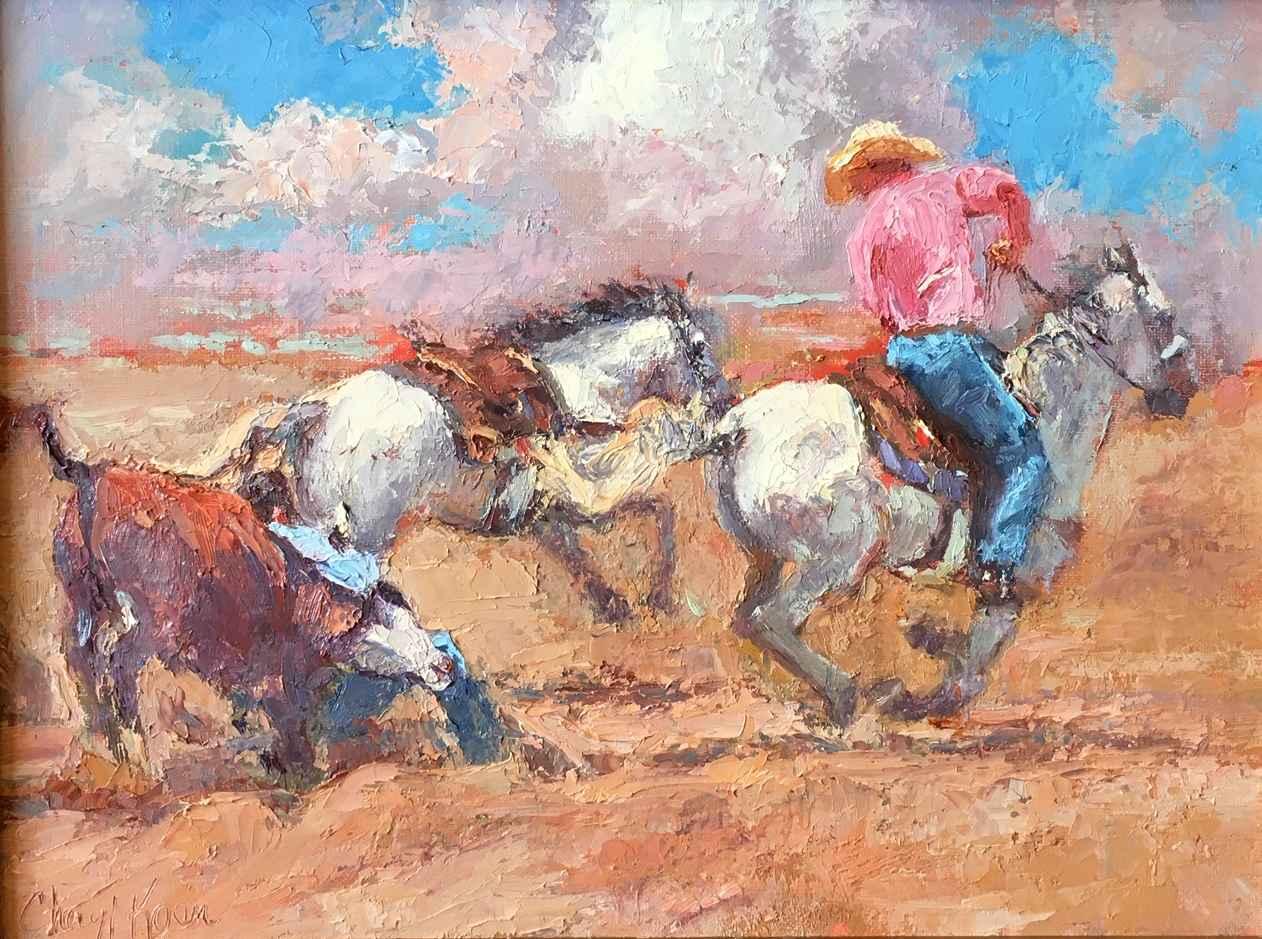 Steer Wranglers by  Cheryl Koen - Masterpiece Online