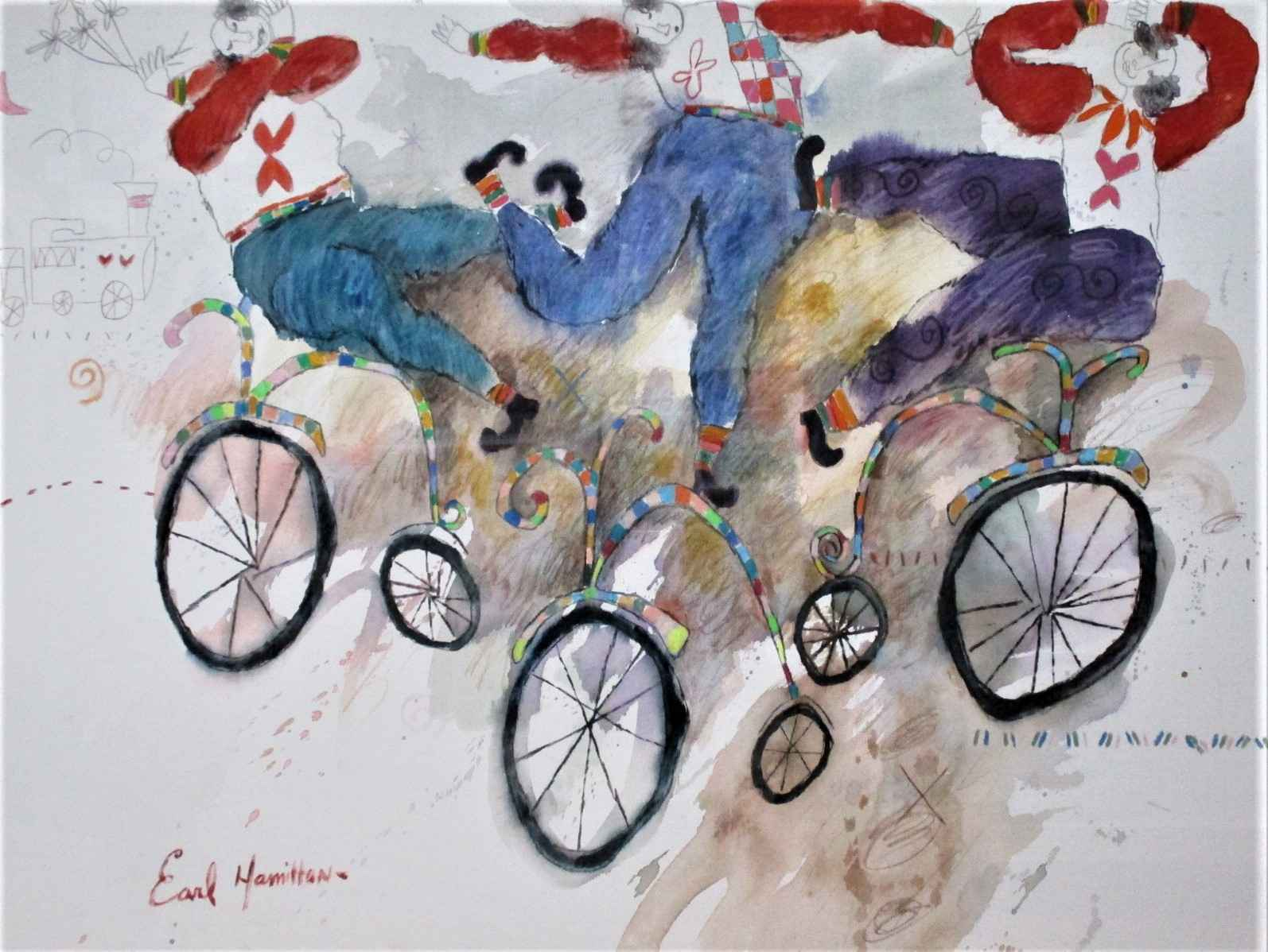 Untitled ( bicyclists) by  Earl Hamilton - Masterpiece Online