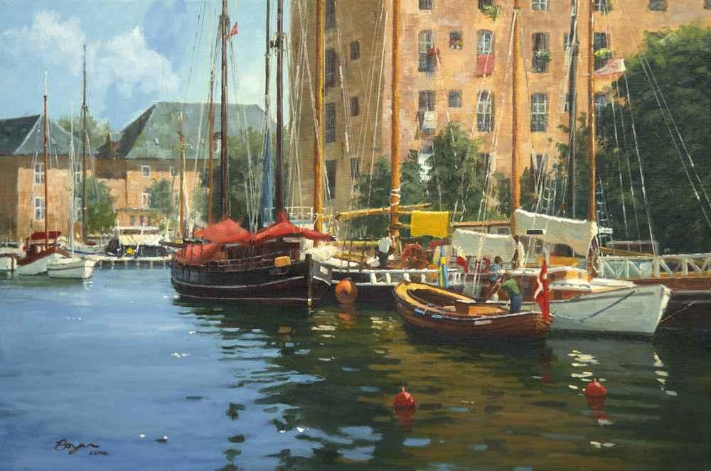 Shipyard in Copenhagen  by  Richard Boyer