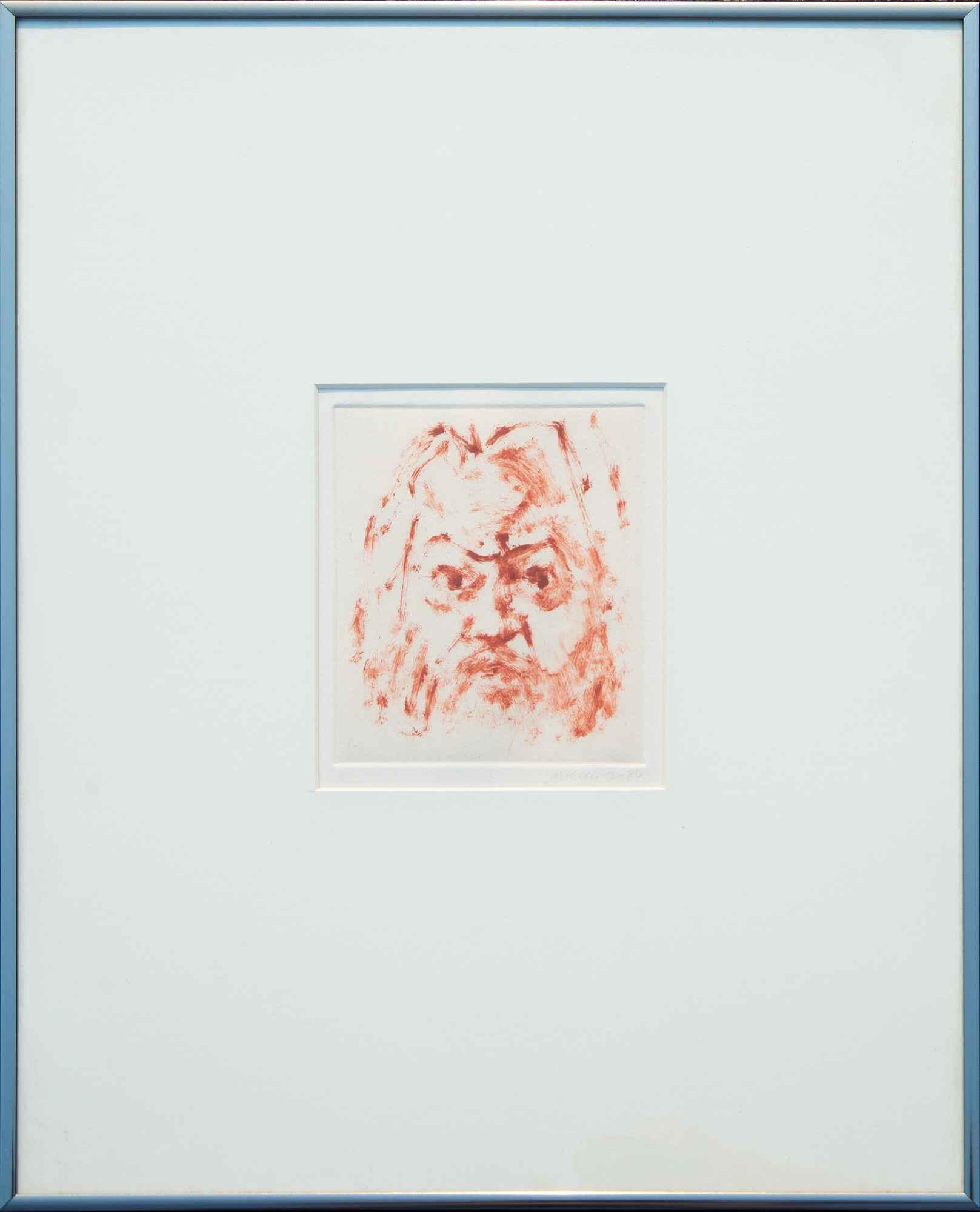 Self Portrait 1986  by  Fred Dalkey