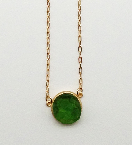Crystal Round Pendant Necklace 16