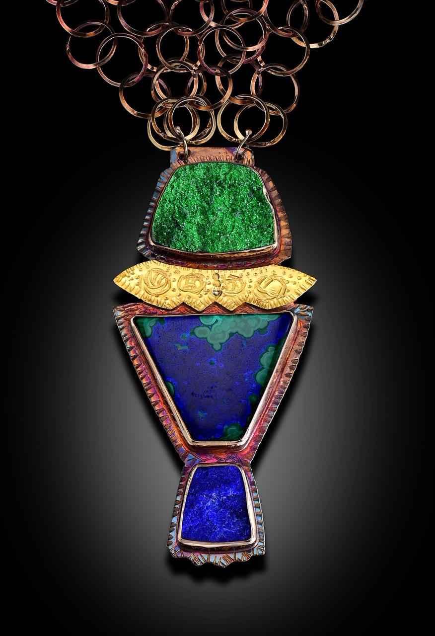 1 Uvarivite Azurite-Malachite and Lapis Necklace
