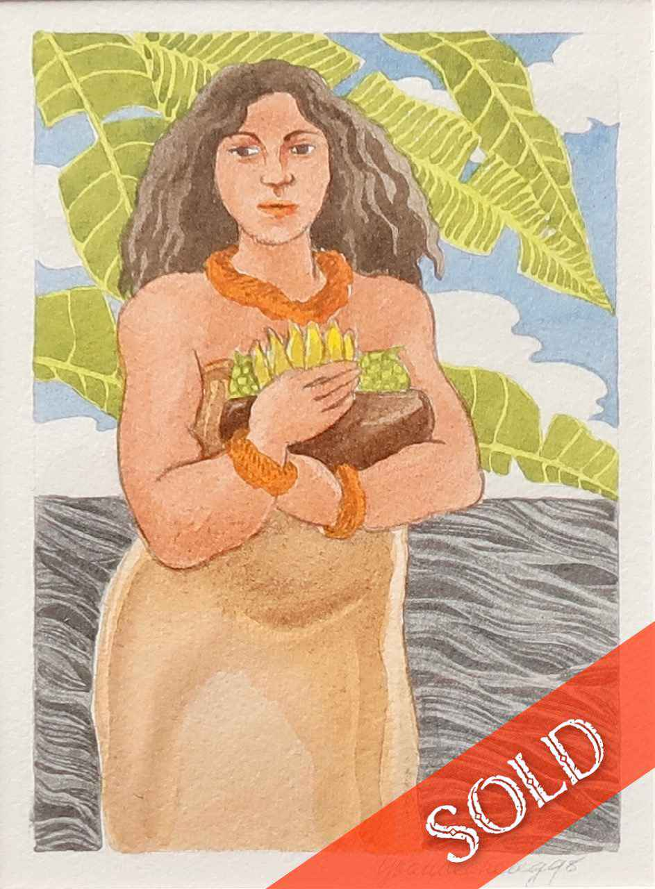 Woman with Calabash by  Yvonne Cheng - Masterpiece Online