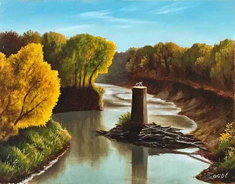 The Bicycle Bridge by  Anthony Benton Gude - Masterpiece Online