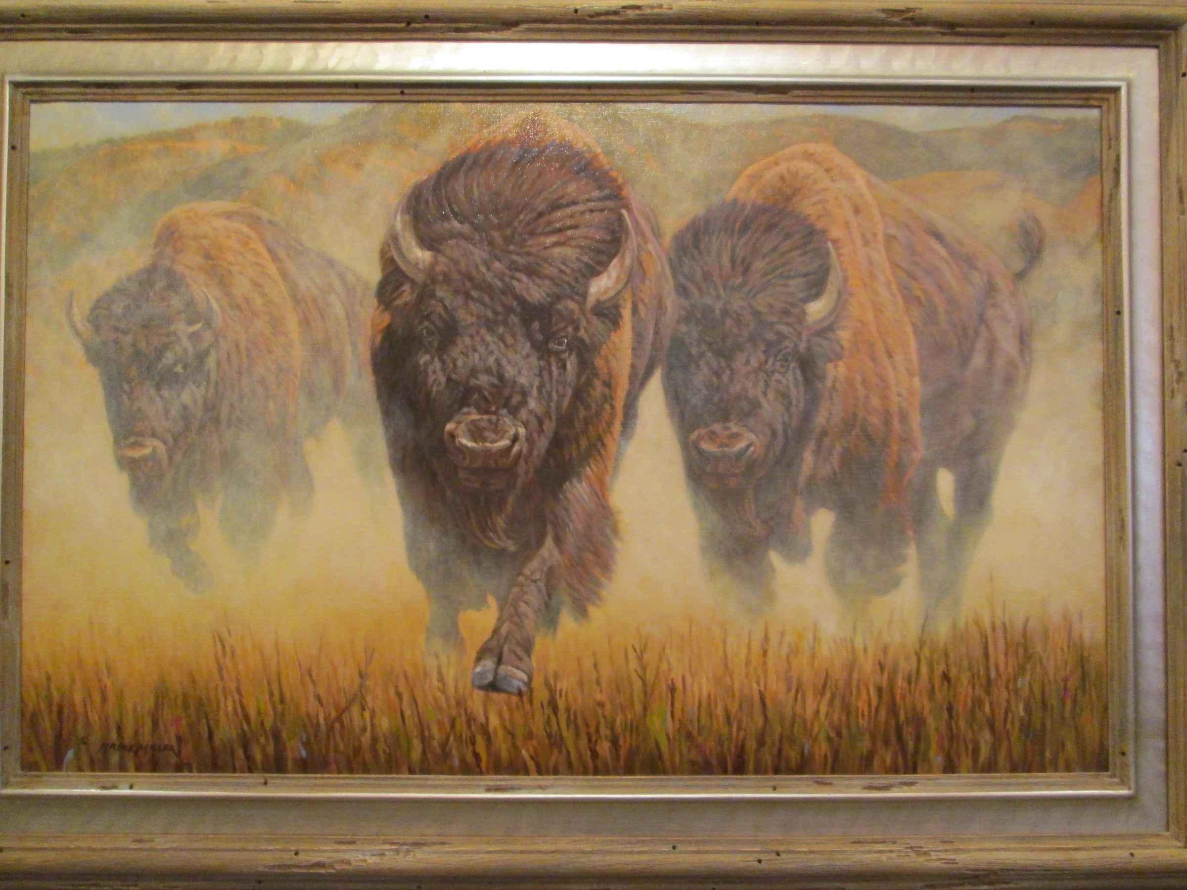 Charging Bison by  Bruce Miller - Masterpiece Online