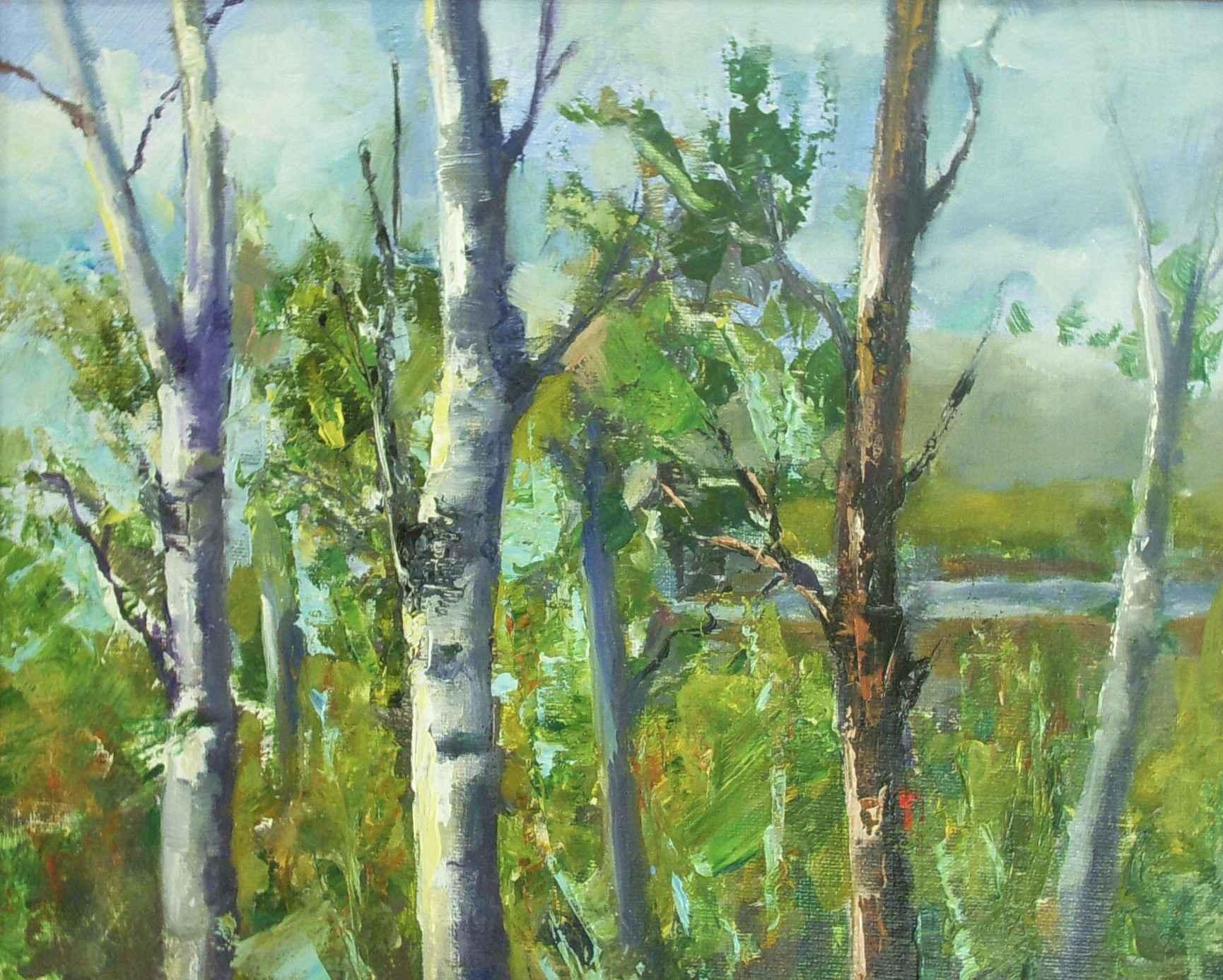 Stagecoach Aspens by  David McBride - Masterpiece Online