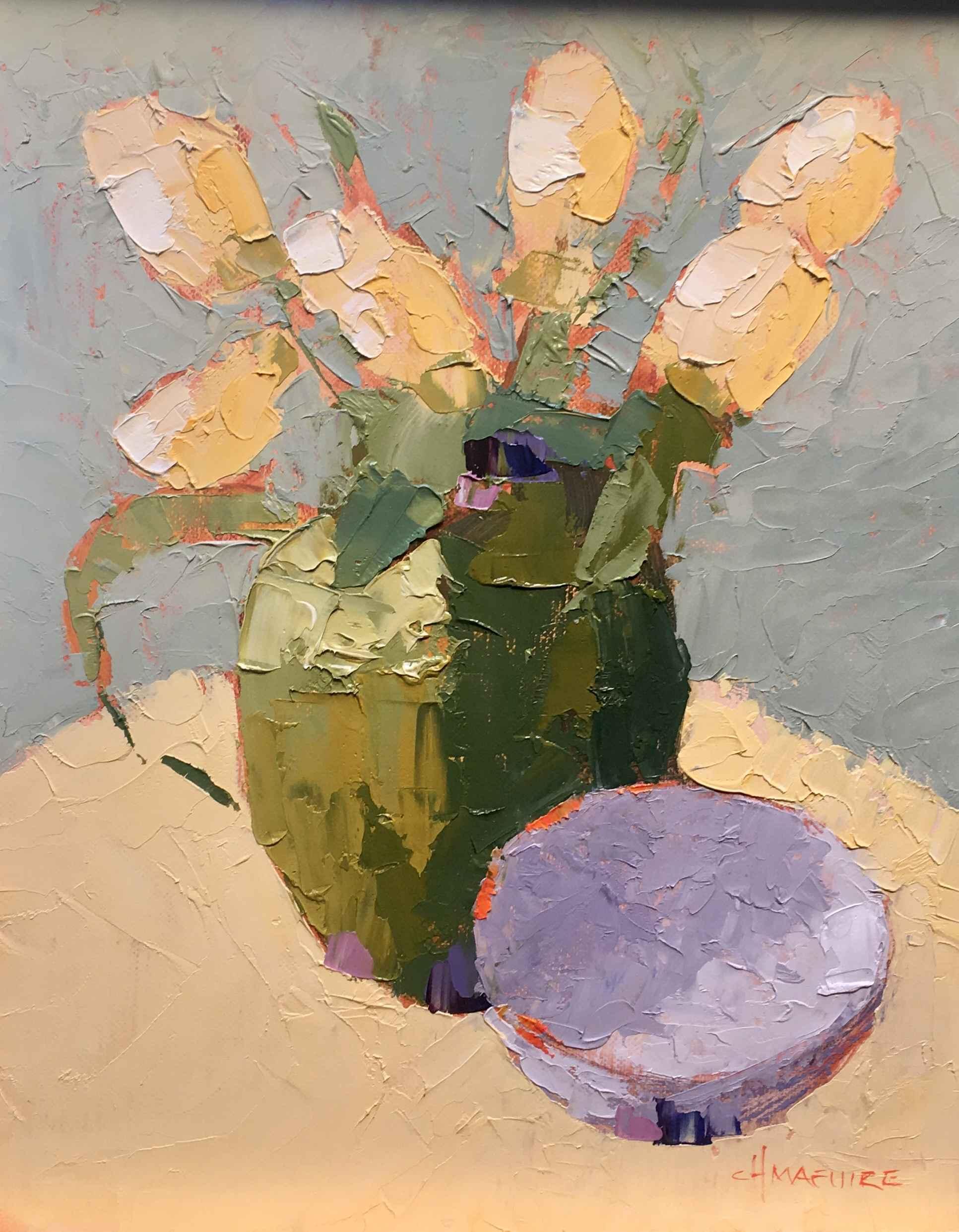 Tulips & Lavander Bowl by  Carol Maguire - Masterpiece Online