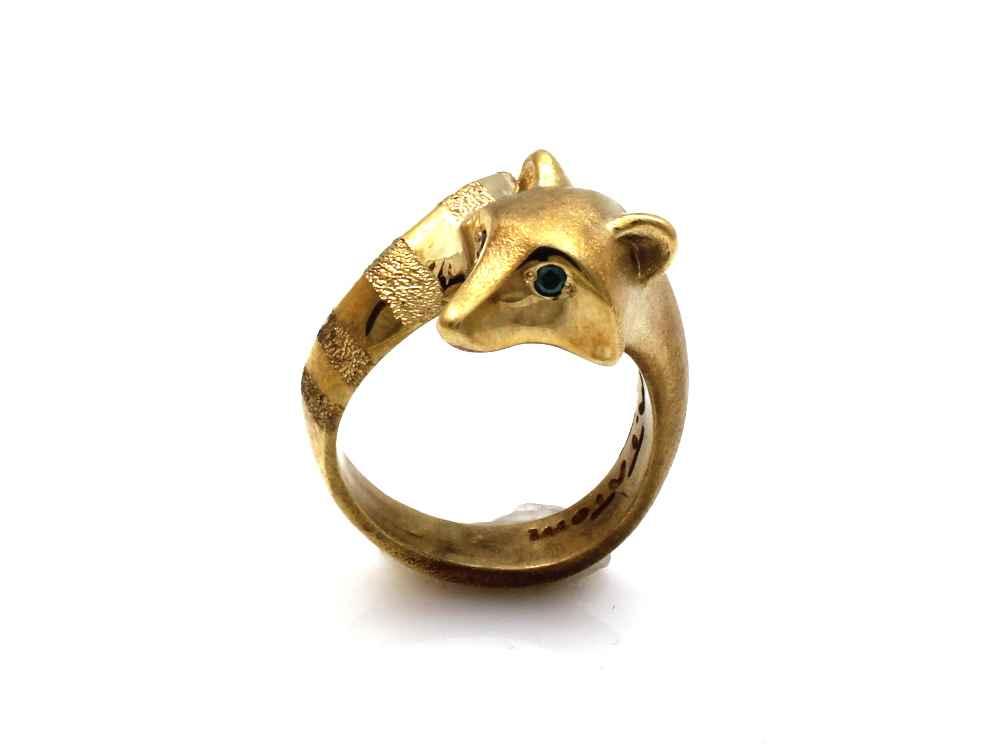 Raccoon Bronze Ring by  Michael Tatom - Masterpiece Online
