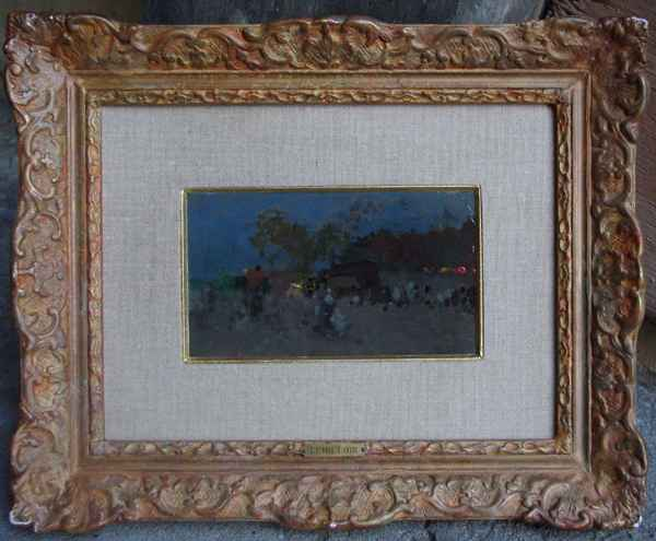 Evening View represented  by  Luigi  Loir
