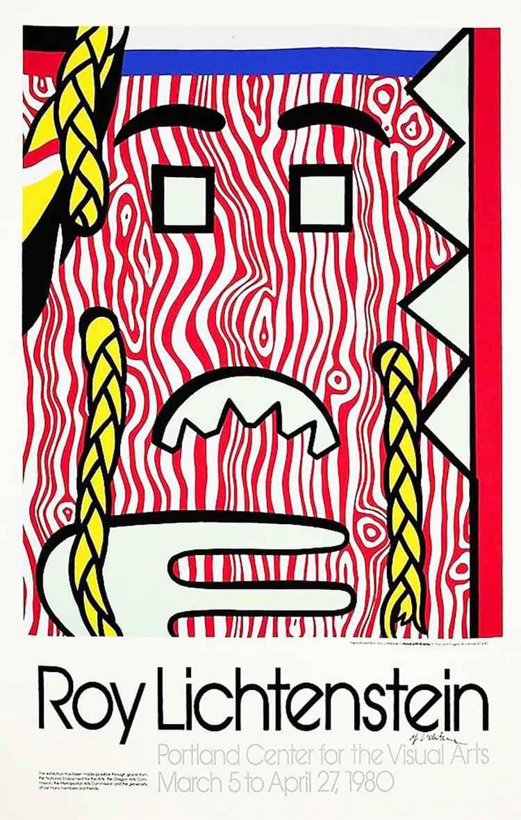 Head with Braids Post... by  Roy Lichtenstein - Masterpiece Online